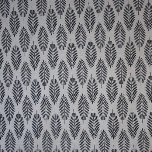 Neckels Living Tischläufer Schwarze Blätter auf Silber TL/SchwarzeBlätter-351