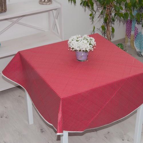 Neckels Living Tischdecke Tupfen Rot,abwischb TD/Tupfen-Rot-abw-39