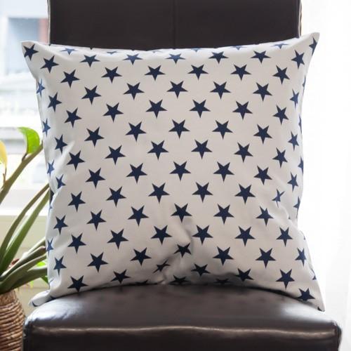 Neckels Living Kissenhülle Sterne Dkl. Blau KH/SterneBlau auf hell-315