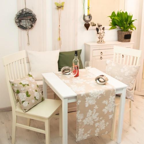 Neckels Living Tischläufer Große Rose auf Natur TL/Gr.-W.-Rose-Natur-344