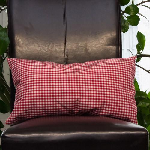 kissenh lle vichy karo rot wei neckels onlineshop f r stoffe handgemachte kissen. Black Bedroom Furniture Sets. Home Design Ideas