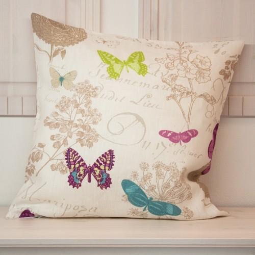 Kissenhülle Leinen Schmetterling | Neckels-living.de - Onlineshop ...