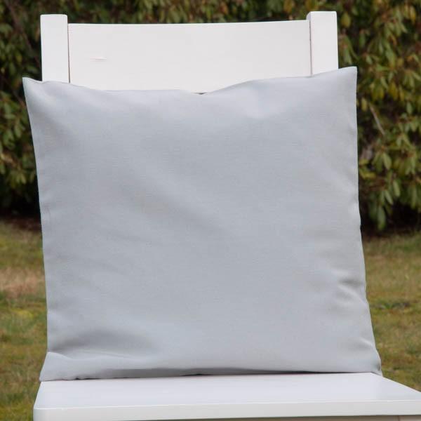 kissenh lle silbergrau neckels onlineshop f r stoffe handgemachte kissen. Black Bedroom Furniture Sets. Home Design Ideas
