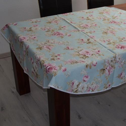 tischdecke gro e rose auf hellblau neckels. Black Bedroom Furniture Sets. Home Design Ideas