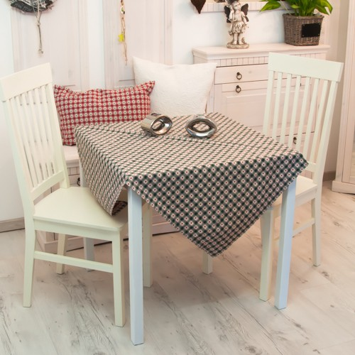 tischdecke karo herzen gr n tischdecken tischw sche. Black Bedroom Furniture Sets. Home Design Ideas
