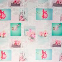 Digi-Druck,Rosa Blumen