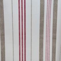Baumwoll Doppel-Streifen Rot