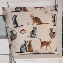Kissenhülle Gobelin Katzen