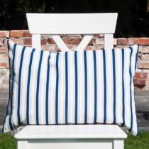 Kissenhülle Streifen Blau-Weiß