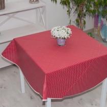 Tischdecke Tupfen Rot,abwischb
