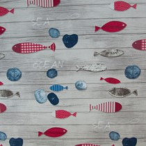 Maritimer Druck Fische,Abw