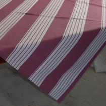 Tischdecke Aubergine-Streifen