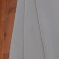 Uni-Stoff-Feinrips Silber-Grau