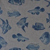 Abw.Maritimer Druck Fische Blau
