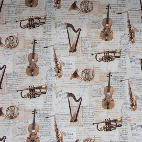Neckels Living Tischdecke Musikinstrumente TD/Musikinstrumente-314