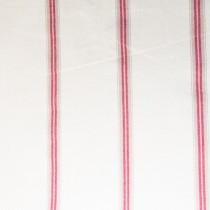 Baumwoll Streifen Rot-Beige