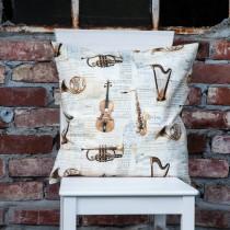 Kissenhülle Musikinstrumente