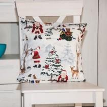 Kissenhülle Weihnachtswald