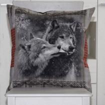 Kissenhülle Wölfe