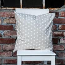 Kissenhülle Sterne Weiß