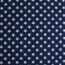 Doubleface- Sterne,Dkl.Blau