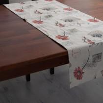 Tischläufer Postkarten auf Leinen