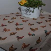 Tischdecke Hühnerhof
