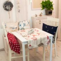 Tischläufer Maritim Postkarte Rot