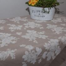 Tischdecke große weiße Rose