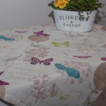 Tischdecke Leinen Schmetterling