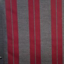 Chenille Streifen Rot - Grau